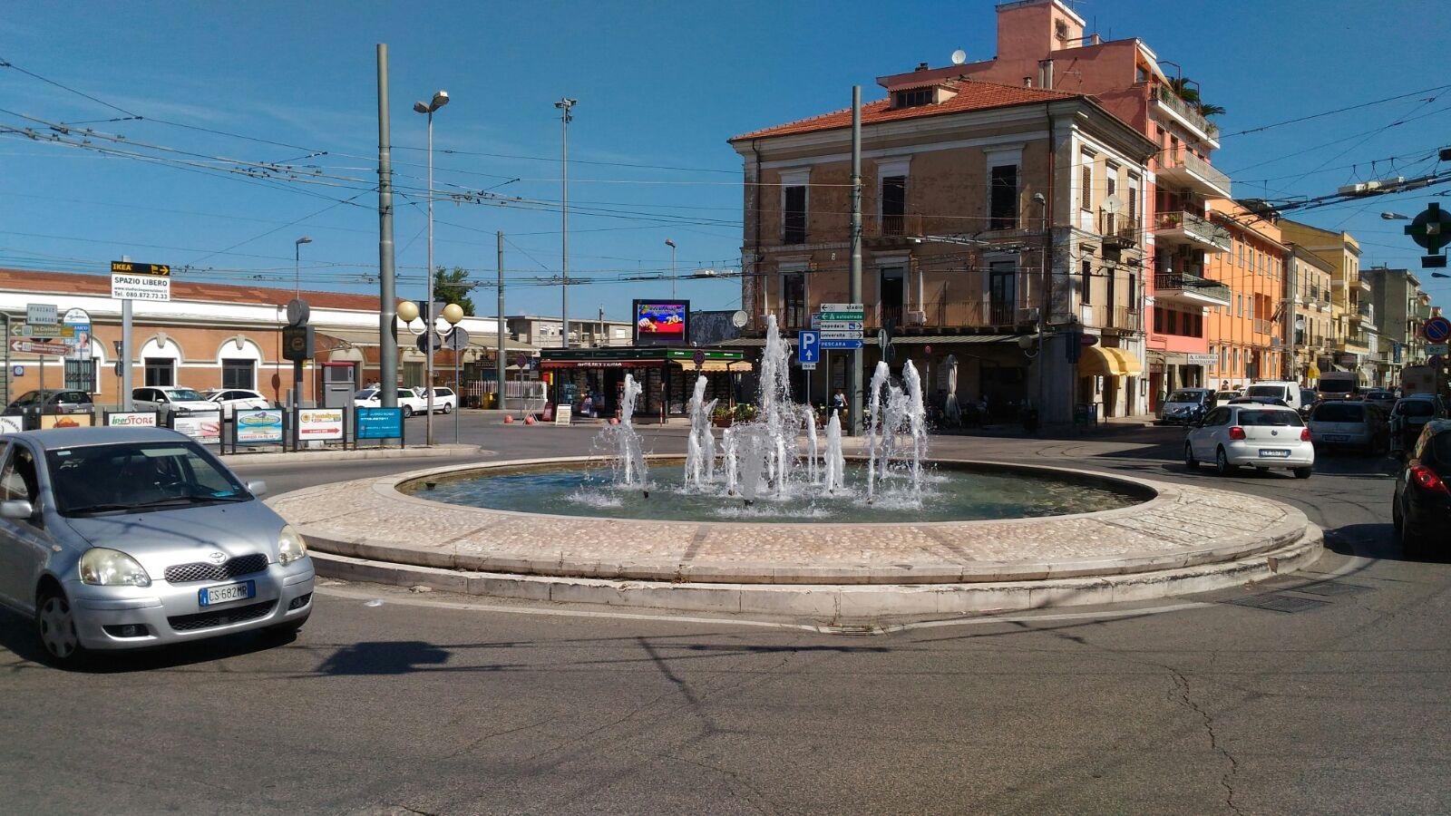 Chieti, riattivata la fontana in Piazzale Marconi