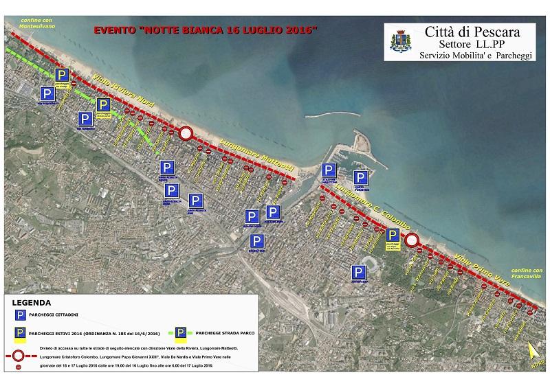Pescara: Notte Bianca, programma e strade chiuse