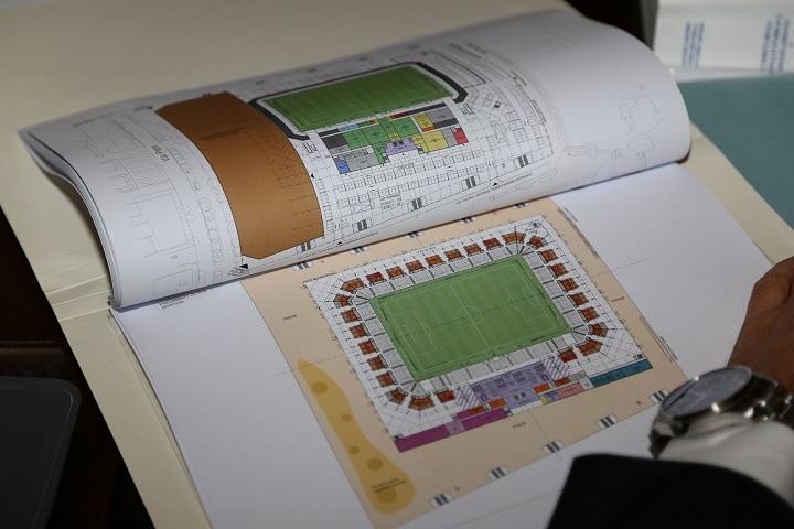Nuovo Stadio Adriatico, nota del Comune