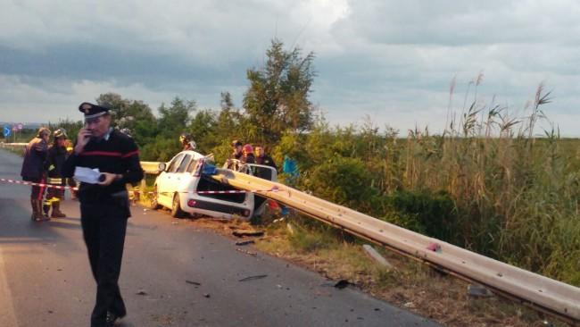 Vasto: Auto contro guardrail, arrestato il conducente