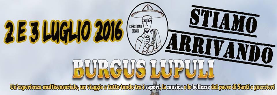 "Capestrano: torna ""Burgus Lupuli"""