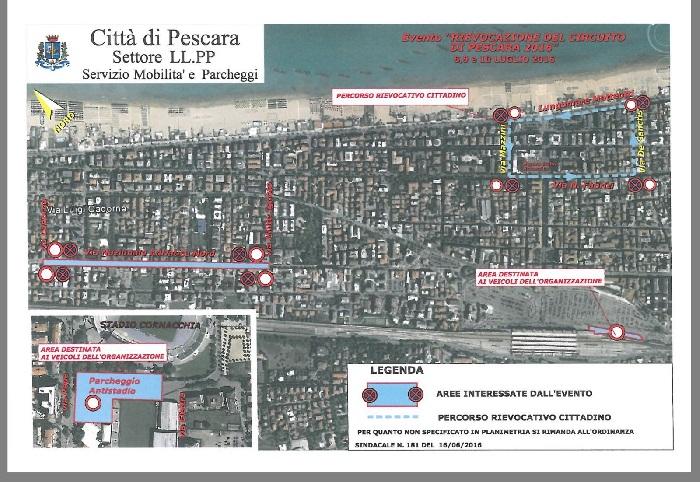 Pescara: Coppa Acerbo, come muoversi in città