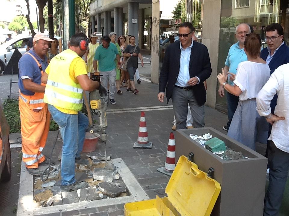 Pescara, via il cemento nuovo verde in città