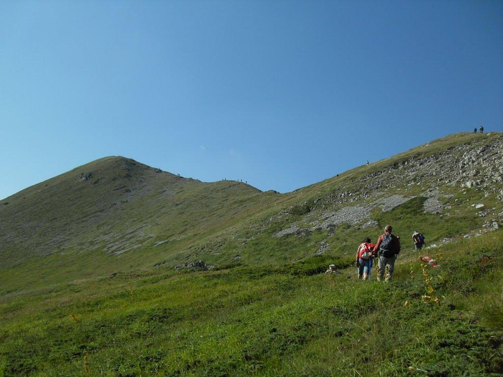 Escursionista soccorsa  durante marcia ecologica