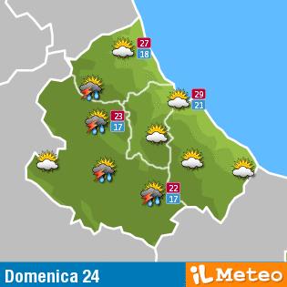 Meteo Abruzzo: Le previsioni del  24 luglio