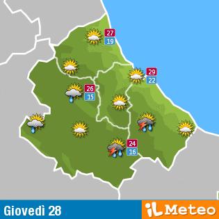 Previsioni meteo Abruzzo 28 luglio