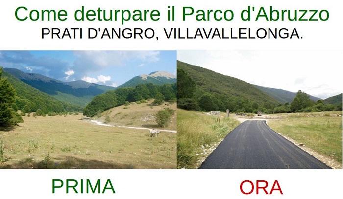 Sentiero asfaltato in Parco Abruzzo, ira ambientalisti