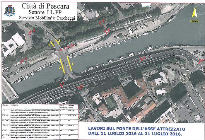Pescara: Asse, chiusura notturna rampe su fiume