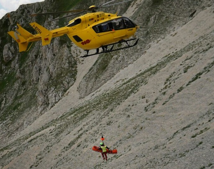 Scalatrice infortunata salvata su Monte Aquila