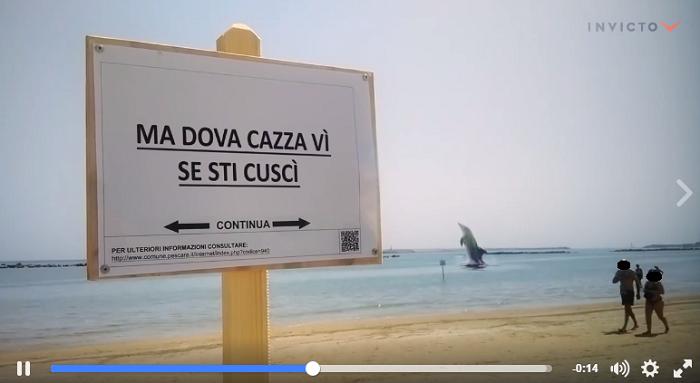 Pescara, mare e divieti: Video sdrammatizza, risate in rete