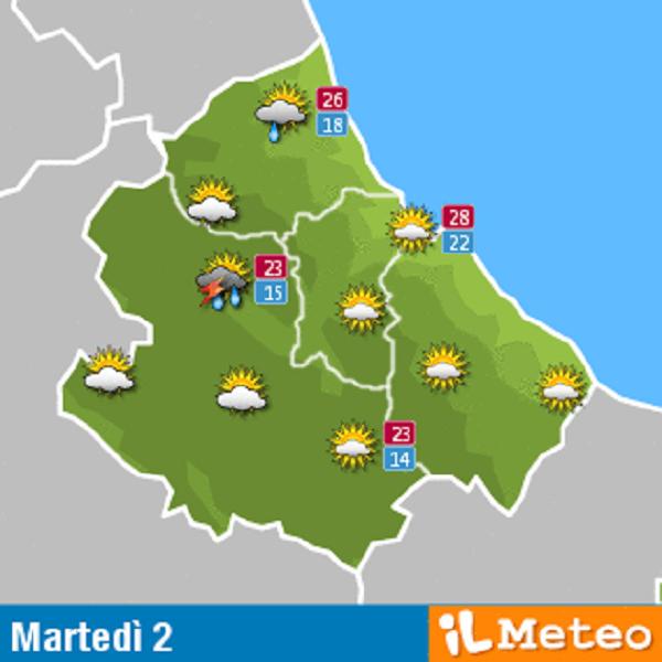 Previsioni meteo Abruzzo martedì 2 agosto