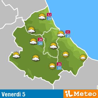 Previsioni meteo Abruzzo 5 agosto
