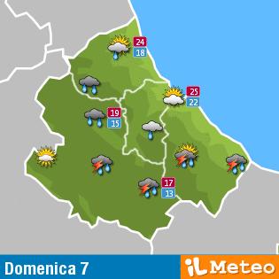 Previsioni meteo Abruzzo 7 agosto