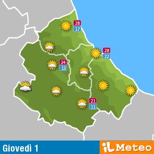 Previsioni meteo Abruzzo 1° settembre