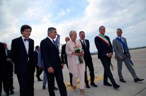 L'ex premier belga Elio Di Rupo con il presidente della Regione Abruzzo D'Alfonso