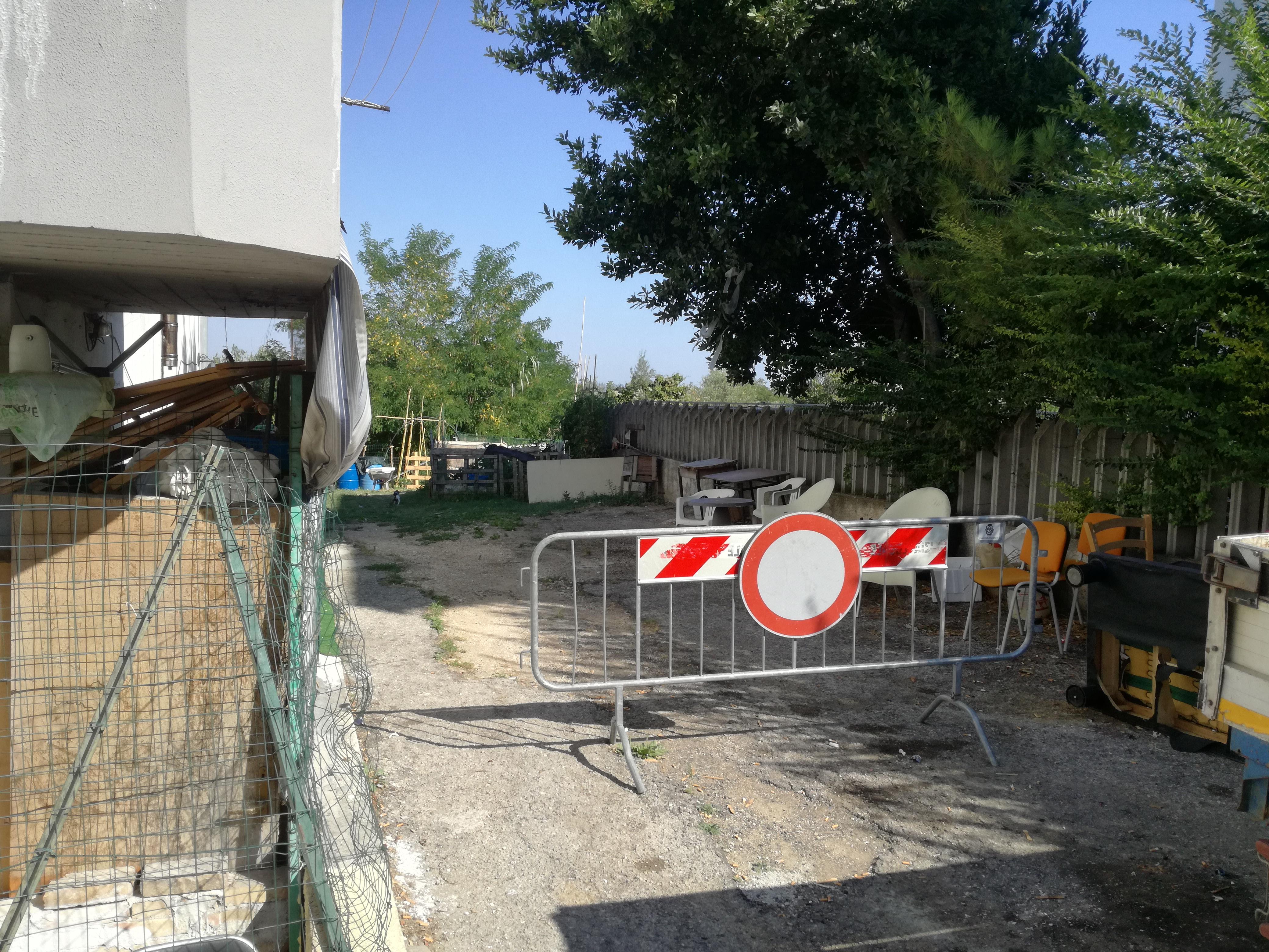 Chieti: Palazzo transennato in Via degli Ernici