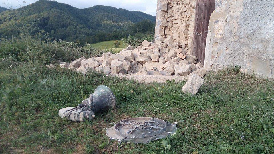 Terremoto Centro Italia: Crolli a Valle Castellana