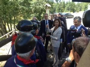 La presidente della Camera Laura Boldrini a Passolanciano