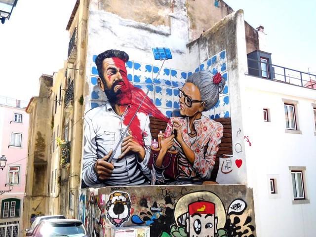 """Mosciano: """"Voci nei vicoli""""  e arte sui muri"""