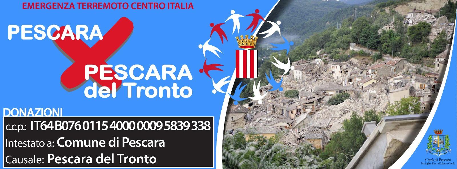 Terremoto, Pescara ai funerali col gonfalone della città