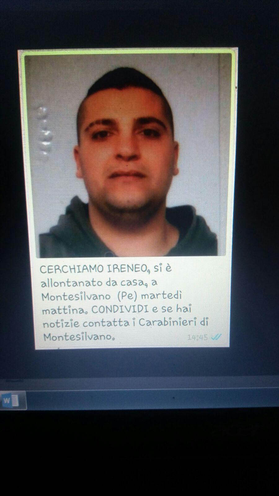 Giovane scompare a Montesilvano