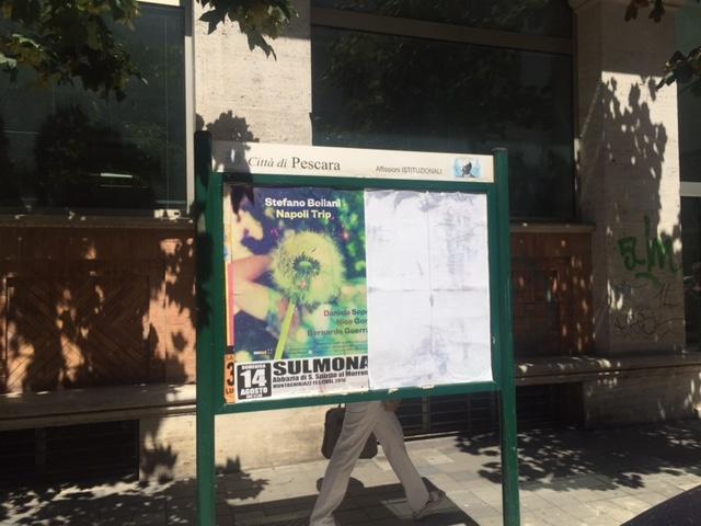 Pescara, botta e risposta sui manifesti fascisti