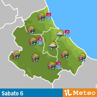 Previsioni meteo Abruzzo sabato 6 agosto