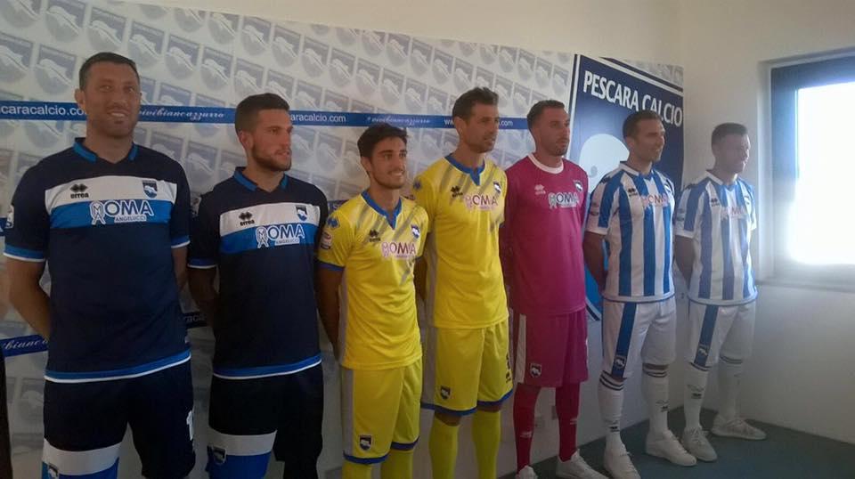 Pescara Calcio, le nuove divise