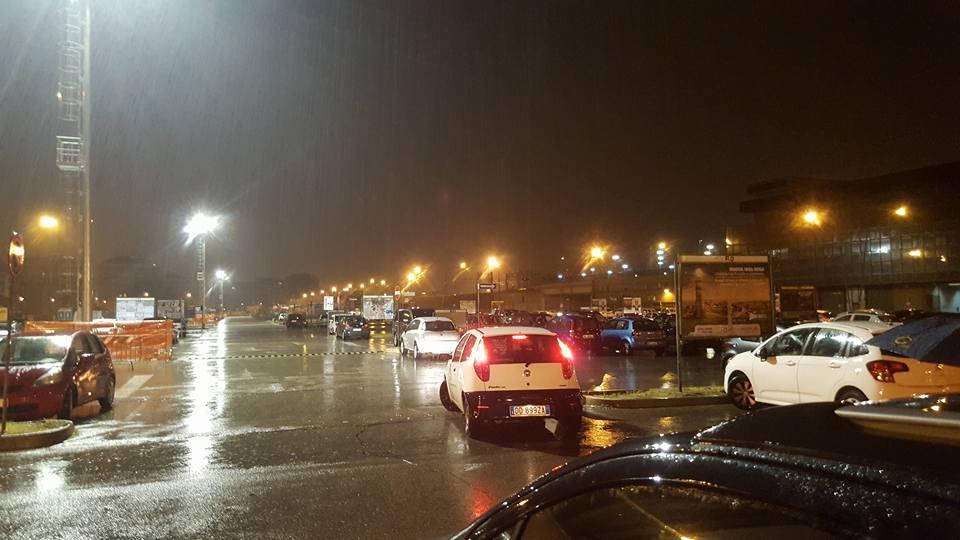 Pescara: Area di risulta illuminata a giorno
