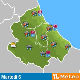 Previsioni meteo Abruzzo Martedì 6 Settembre 2016
