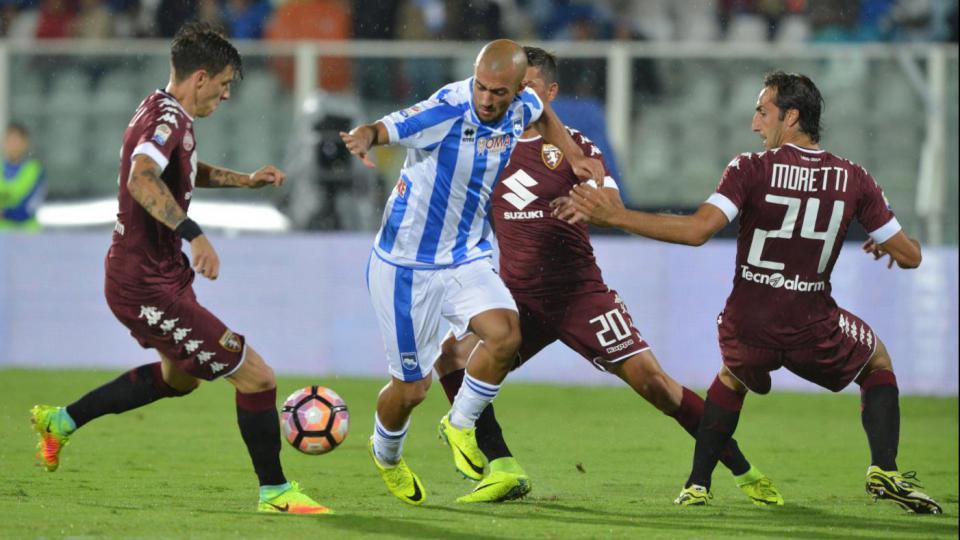 Pescara calcio, nodo Brugman- Aquilani