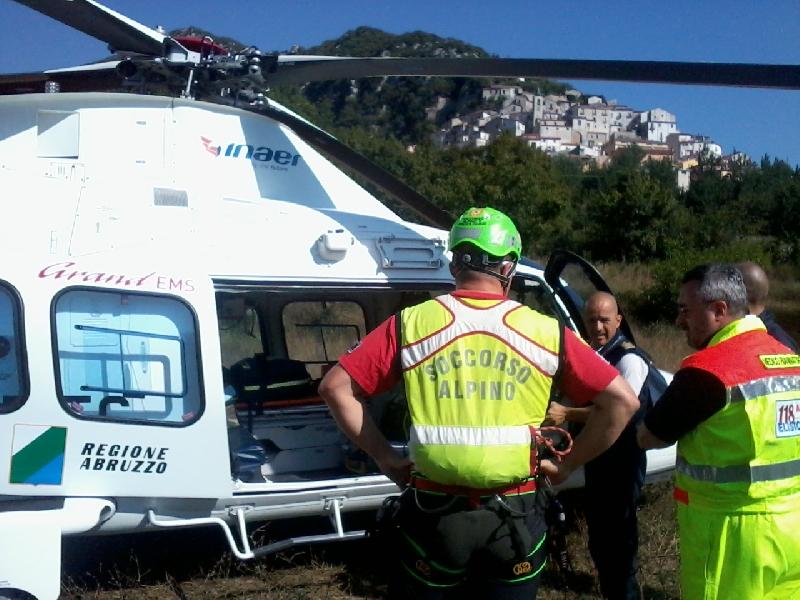 Incidenti sul Gran Sasso: recuperato escursionista ferito