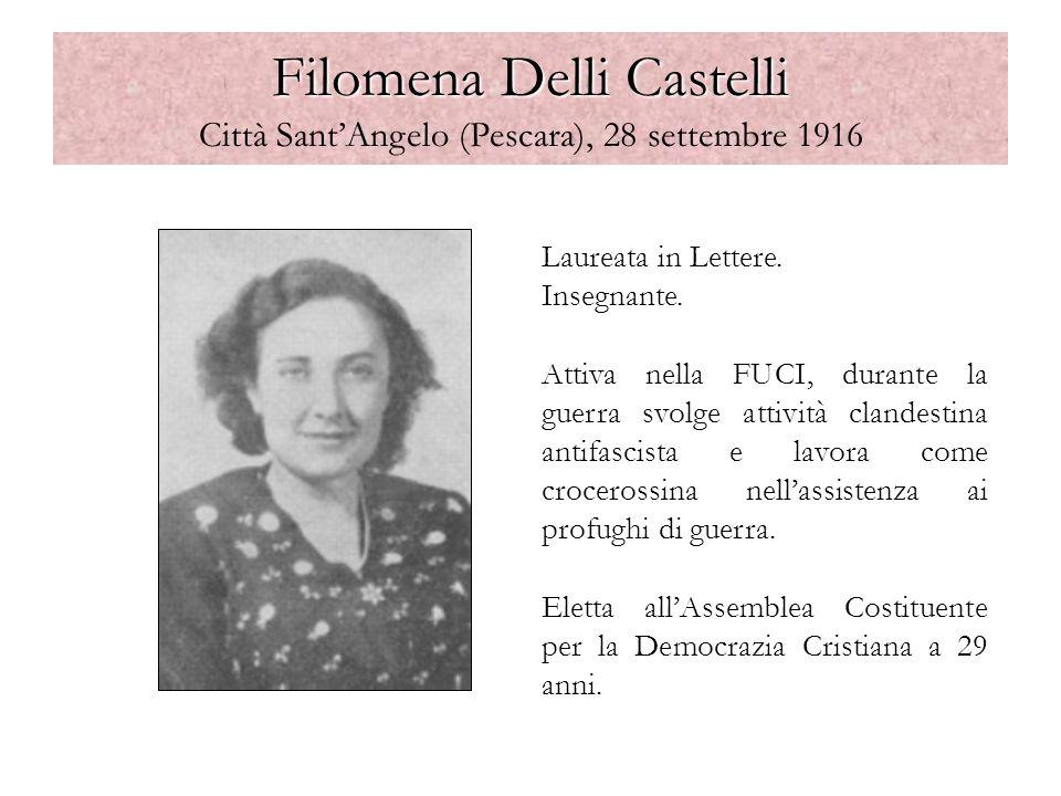 Pescara, tributo a Filomena Delli Castelli