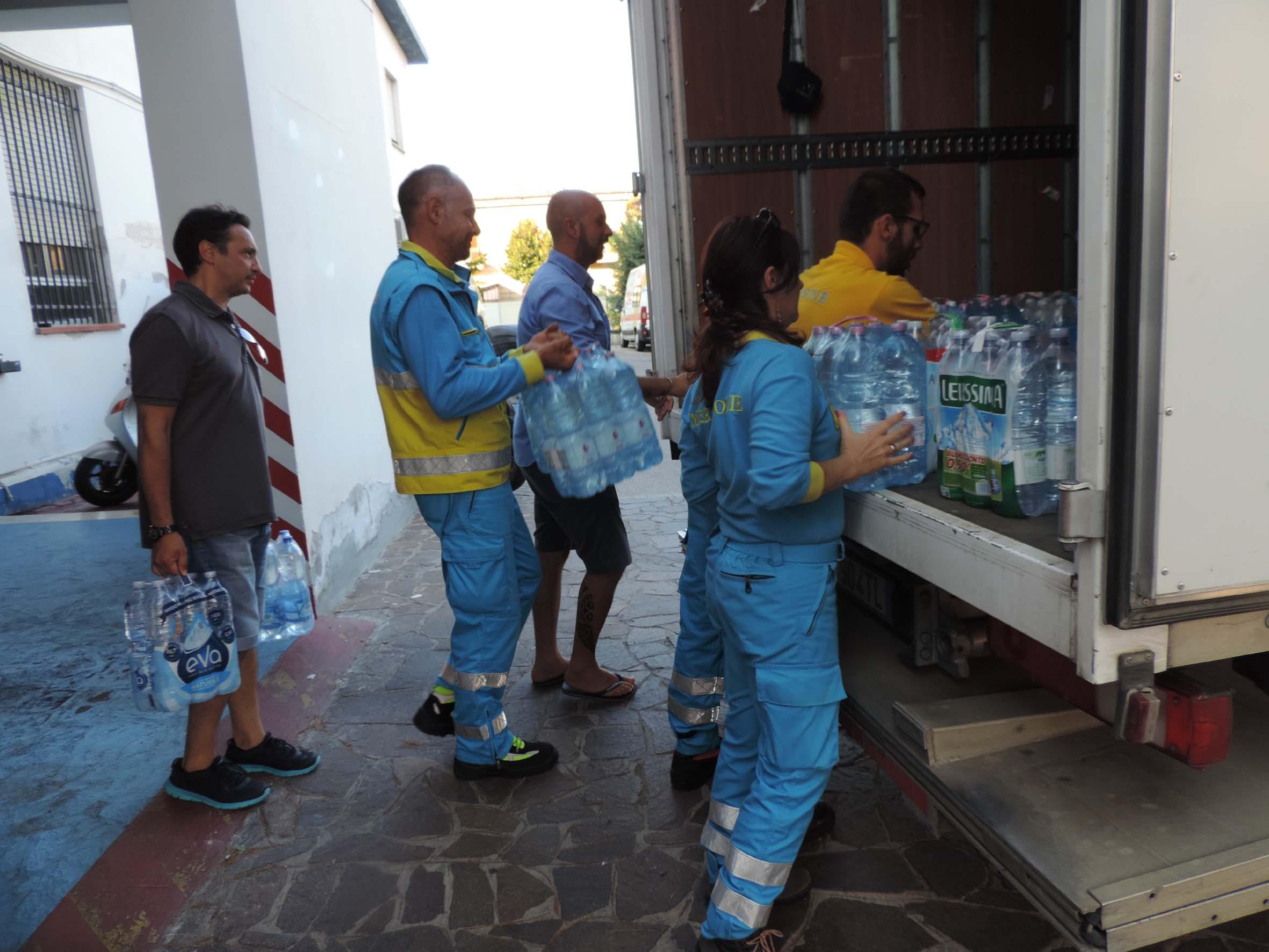 Sisma 24 agosto: il materiale raccolto dalla Misericordia di Pescara