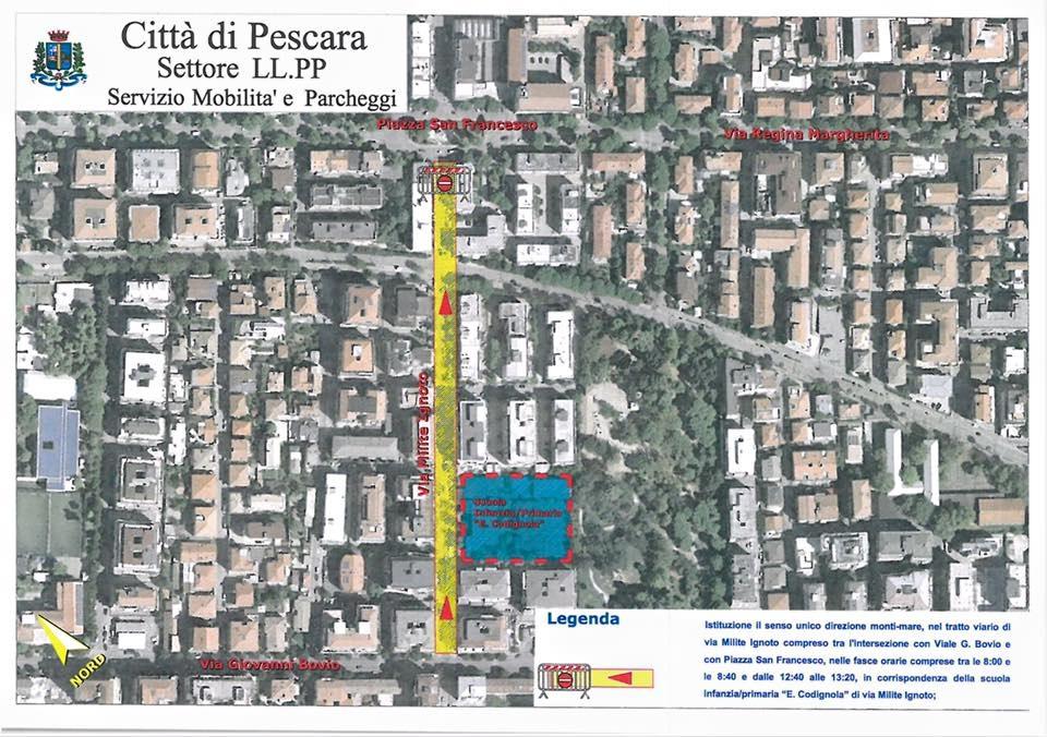 Pescara, sicurezza e mobilità davanti alle scuole