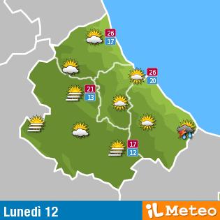 Previsioni meteo Abruzzo lunedì 12 Settembre