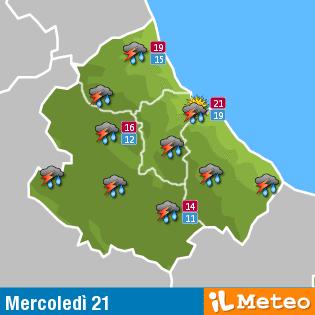 Previsioni meteo Abruzzo mercoledì 21 Settembre