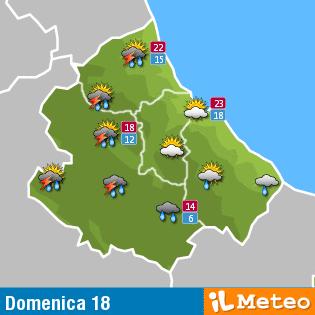 Previsioni meteo Abruzzo domenica 18 settembre