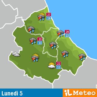Previsioni Meteo Abruzzo lunedì 5 settembre