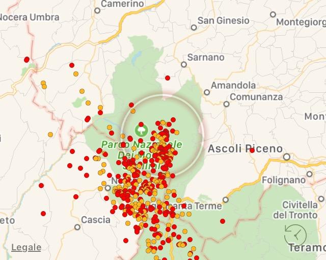 Scossa di terremoto nell'ascolano 3.6 avvertita in Abruzzo