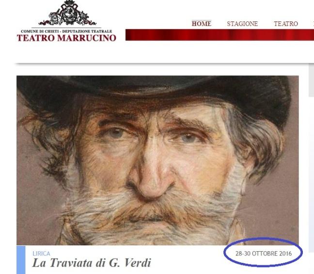"""Slitta la """"prima"""" della Traviata al Marrucino di Chieti"""