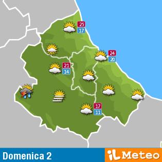 Previsioni meteo Abruzzo Domenica 2 Ottobre 2016
