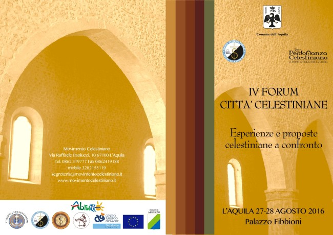 L'Aquila: sospeso IV Forum Città Celestiniane