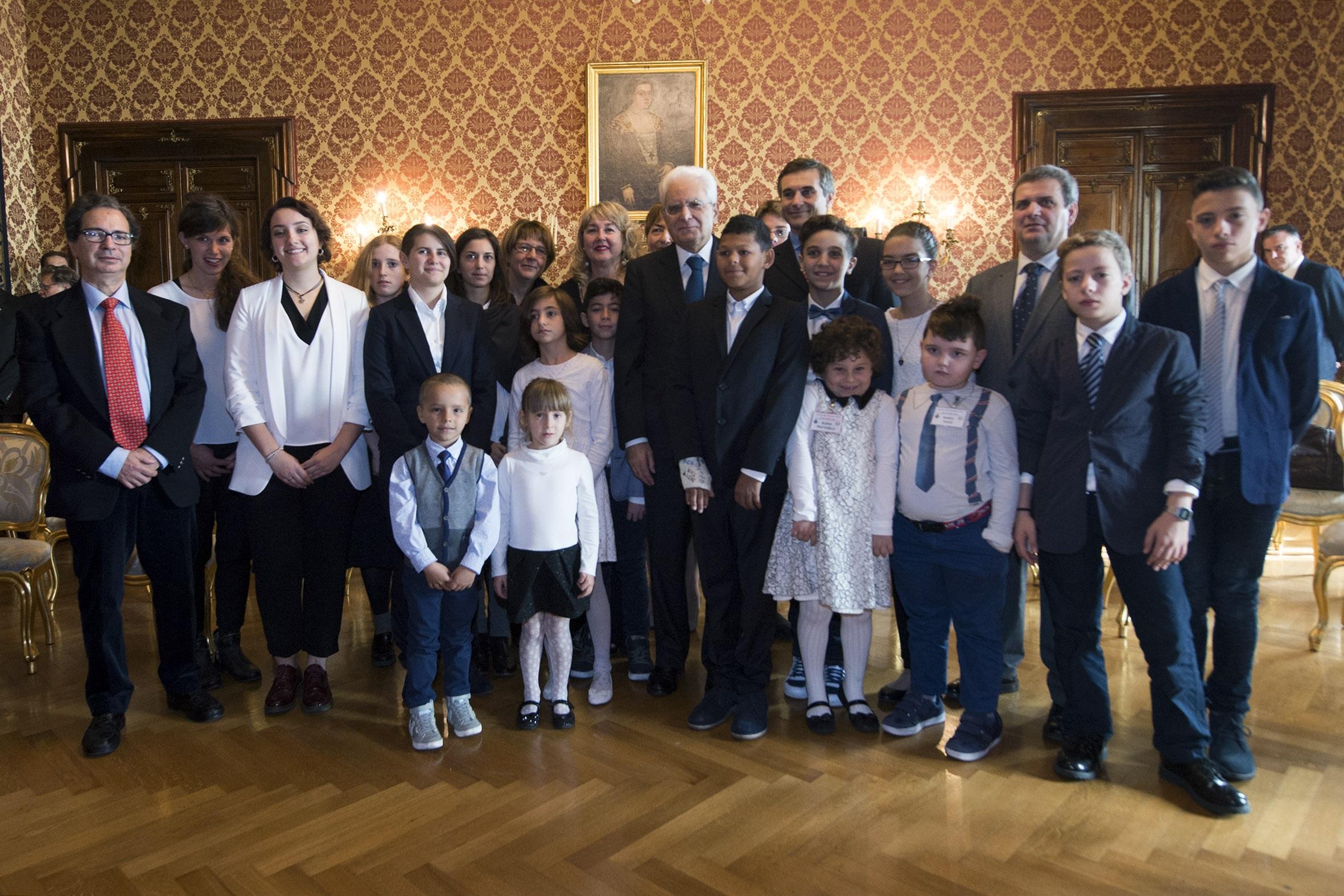 Bucchianico, gli alunni premiati da Mattarella.