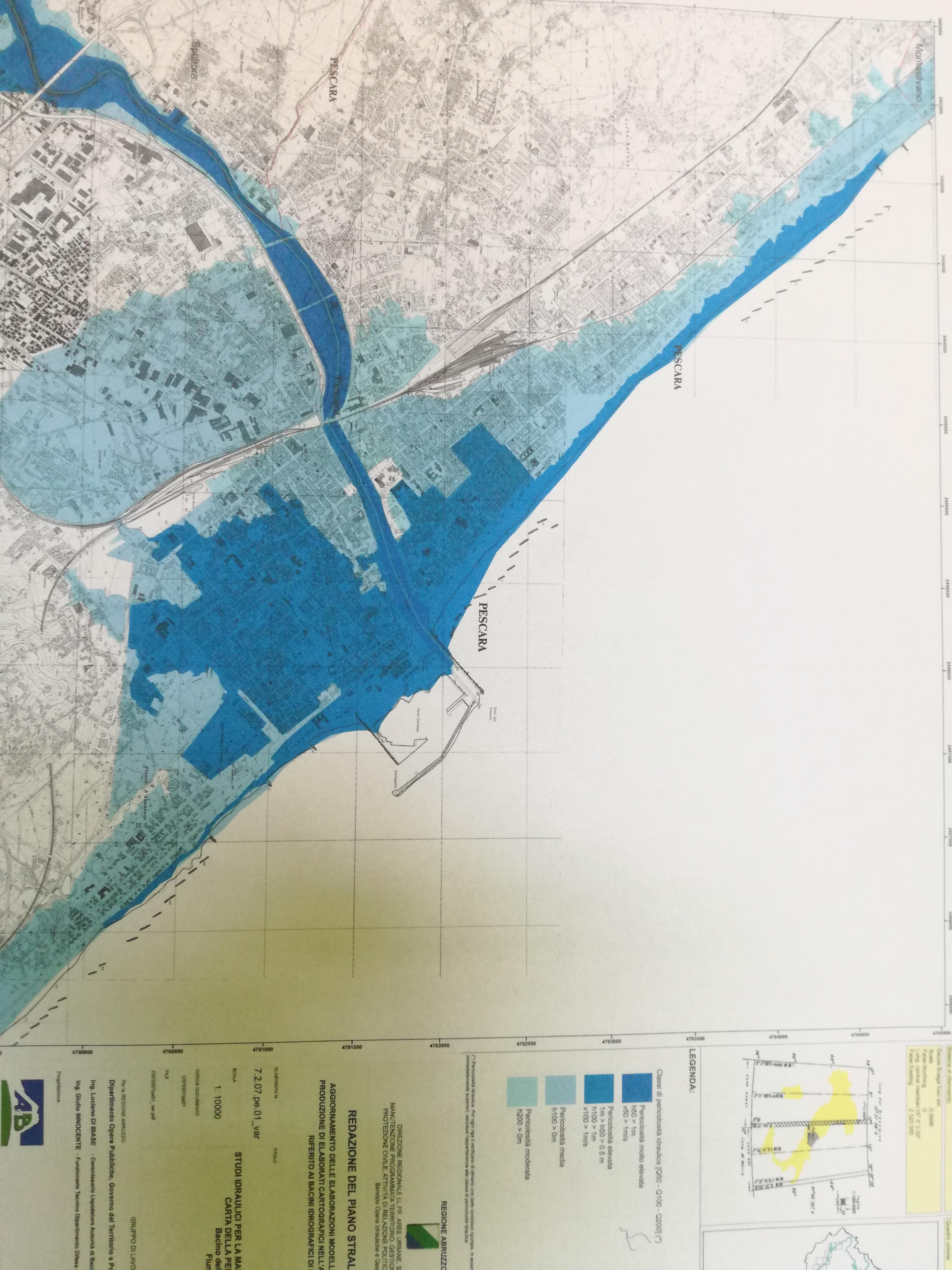 Pescara, F.I. critica il nuovo Piano contro le alluvioni