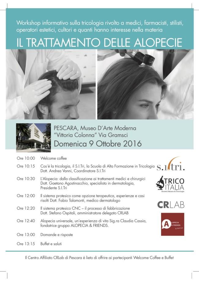 Workshop a Pescara su alopecia e tricologia