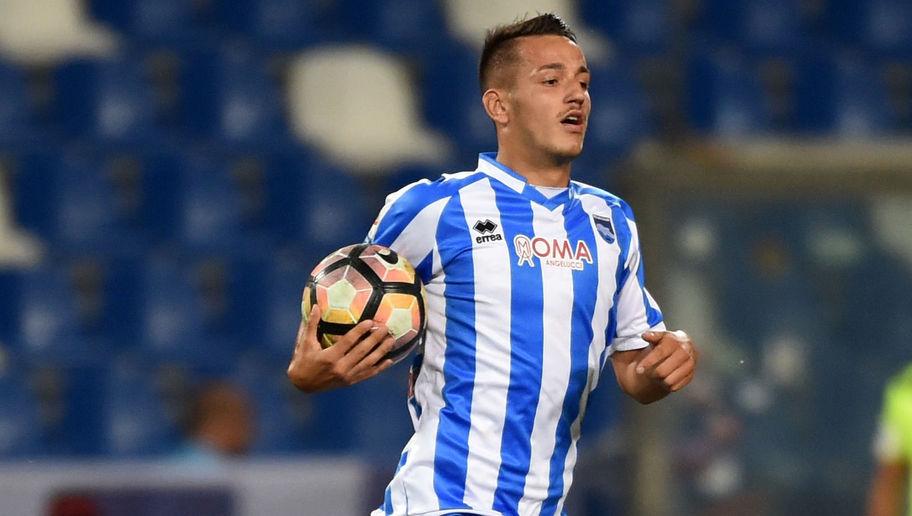 Pescara calcio, Manaj infortunato