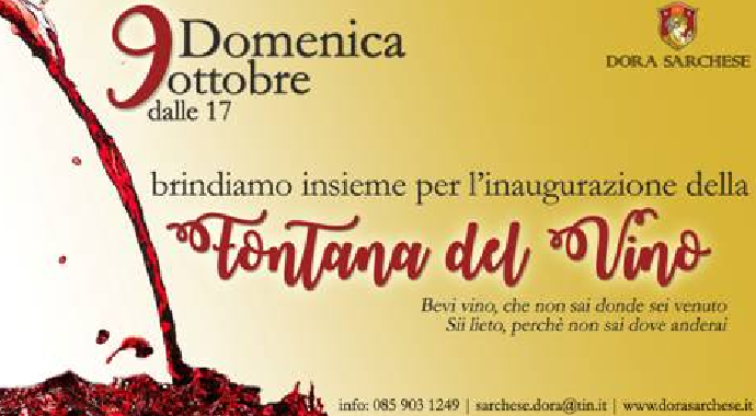 Ortona: la prima Fontana del Vino d'Italia