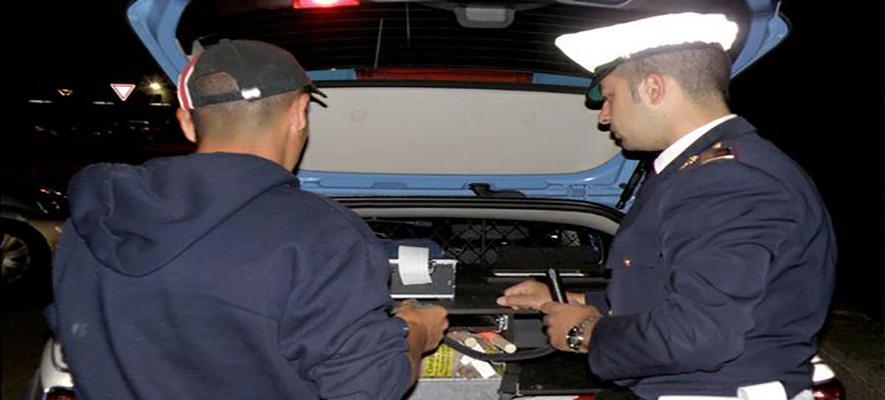 Guida ubriaco, pescarese multato otto volte