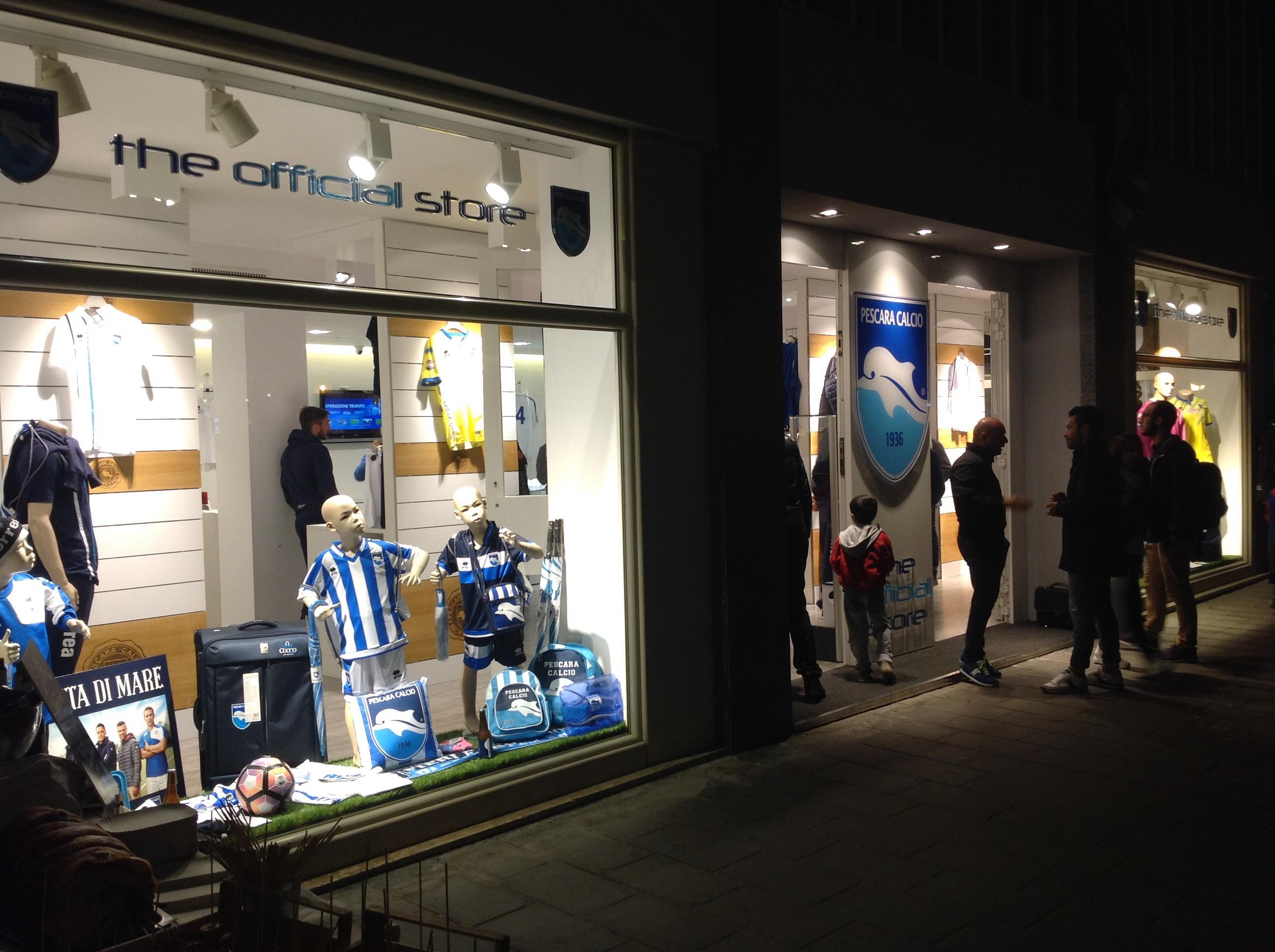 Store Pescara Calcio – Inaugurazione in grande stile
